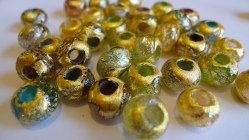Venetian Bead Shop Exclusive Dichroic Gold Foil PERLAVITA Beads
